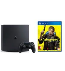 Playstation 4 Slim Console - 500GB (Nordic) + Cyberpunk 2077