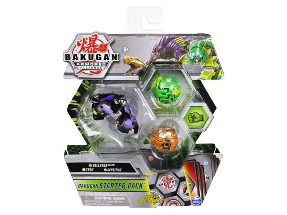 Bakugan - Starter Pack - Armored Alliance - Gillator Ultra, Trox, Centipod (20123235)