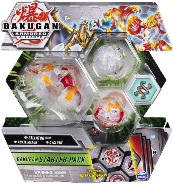 Bakugan - Starter Pack - Armored Alliance - Gillator Ultra, Auxillataur, Cycloid (20123239)