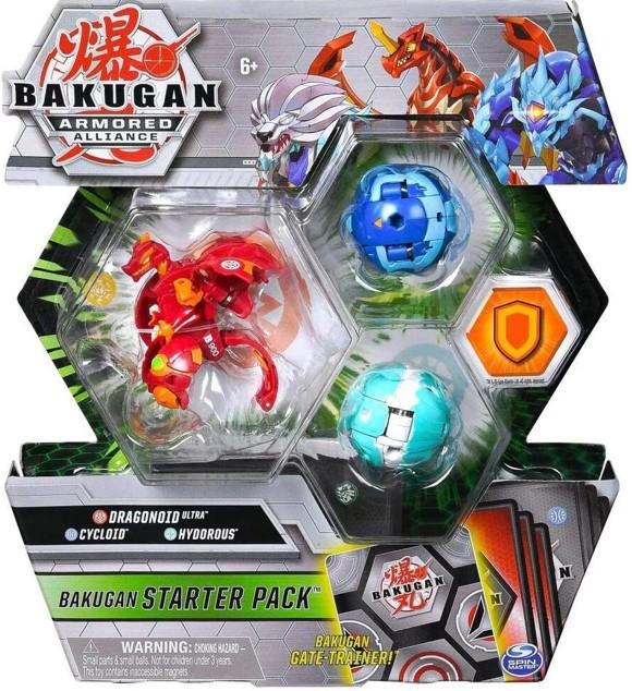 Bakugan - Starter Pack - Armored Alliance - Dragonoid Ultra, Cycloid, Hydorous (20123234)