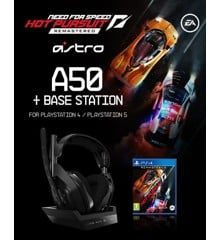 ASTRO - A50 Wireless + Base Station for PS4/PC - GEN4 & Need for Speed Hot Pursuit Remaster PS4  - Bundle