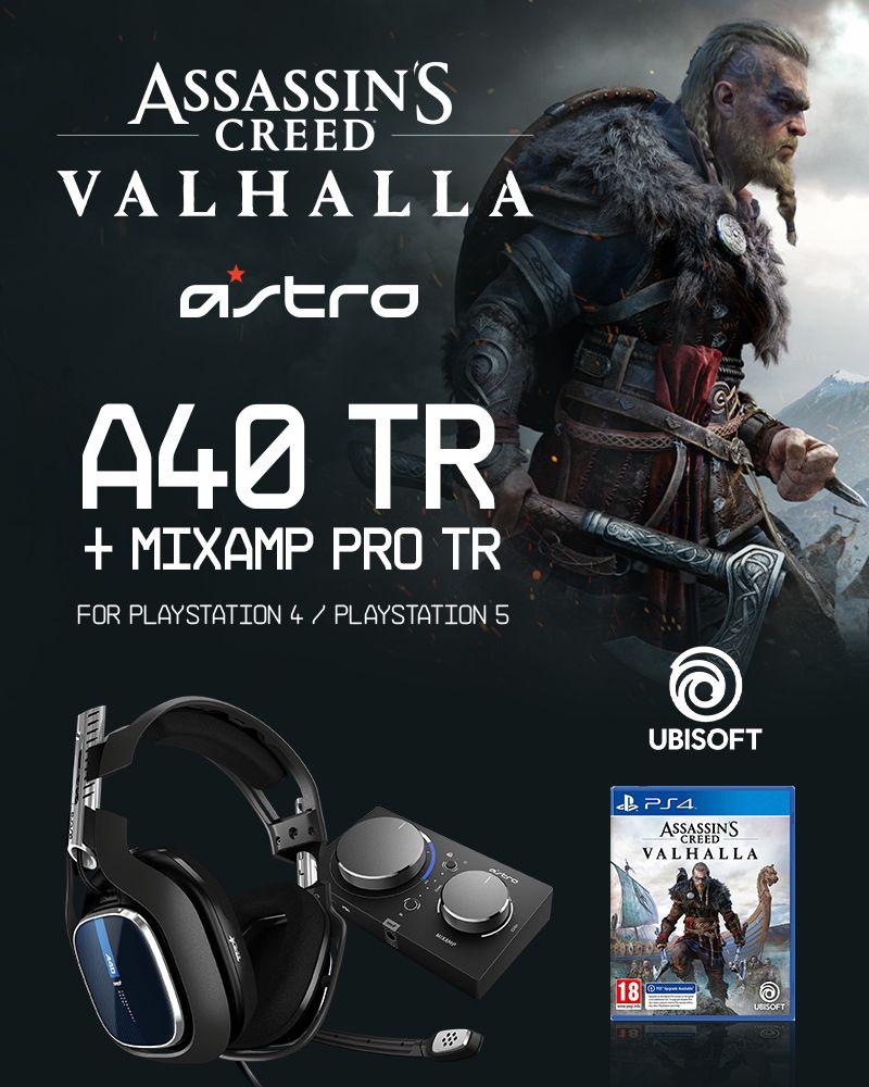 ASTRO A40 TR + MA PRO TR PS4 GEN4 & Assassin's Creed Valhalla PS4 - Bundle