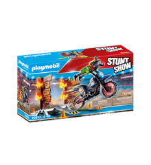 Playmobil - Stuntshow motorcycle with firewall (70553)