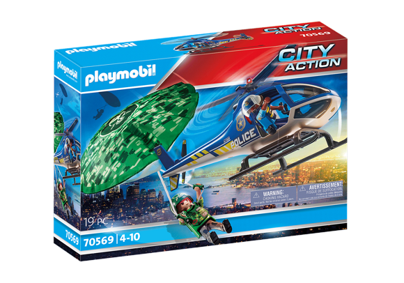 Playmobil - Police helicopter - Parachute pursuit (70569)