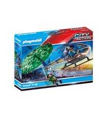 Playmobil - Politihelikopter- Faldskskærms-forfølgelse (70569)