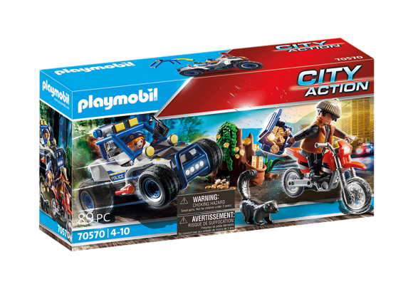 Playmobil - Police off-road vehicle: Pursuit of the treasure robber (70570)