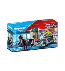 Playmobil - Politimotorcykel: Forfølgelse af pengerøveren (70572)