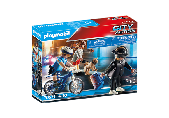 Playmobil - Police bicycle: Pursuit of the pickpocket (70573)
