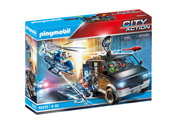 Playmobil - Police helicopter: pursuit of the escape vehicle (70575)
