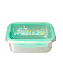 Rice - Stainless Steel Rectangular Lunchbox w. Summer Flowers Print
