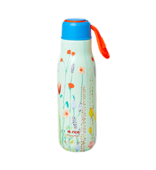 Rice - Stainless Steel Thermo Drinking Bottle 500 ml - Summer Flower Print