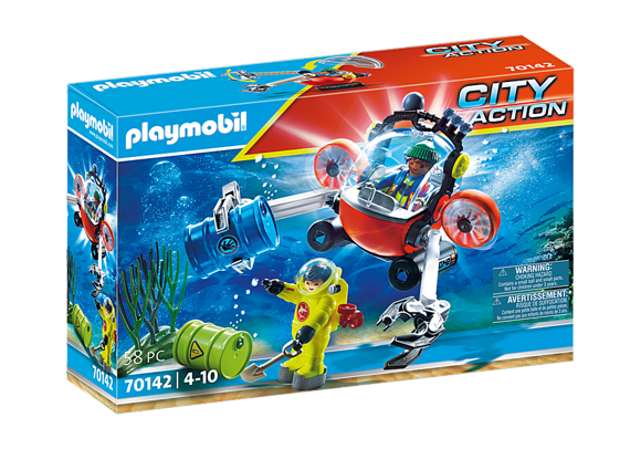 Playmobil - Sea Rescue: Enviromental operation with dive boat (70142)