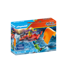 Playmobil - Sea Rescue: Kitesurfer rescue with boat (70144)