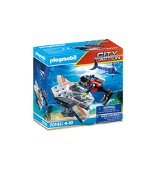 Playmobil - Sea Rescue: Diving scooter in rescue operations (70145)