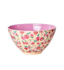 Rice - Melamine Salad Bowl - Peach Print