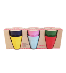 Rice - 6 Pcs Small Melamine Kids Cups - Favorite Colors