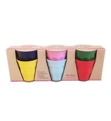 Rice - 6 Stk Small Melamin Børnekopper - Favorit Colors