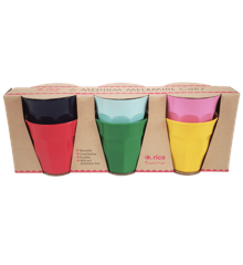 Rice - Medium Melamine Cups 6 Pcs. - Favorite Colors