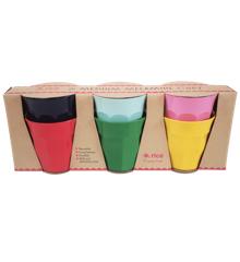 Rice - Medium Melamine Cups 6 Pcs. - Favorite Colors