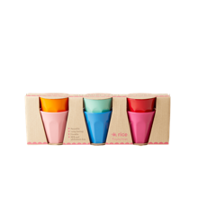 Rice - 6 Melamine Espresso Cups - Choose Happy Colors