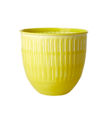 Rice - Metal Flower Pots - Yellow
