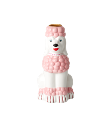 Rice - Ceramic Candle Holder in Poodle Shape - Pink