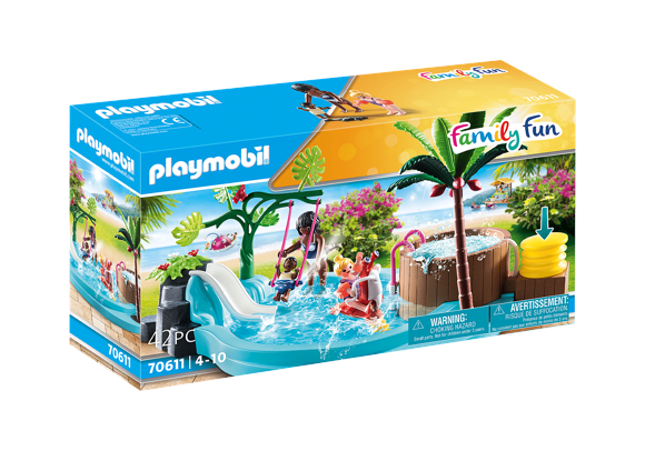 Playmobil - Children's pool with whirlpool (70611)