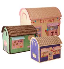 Rice - Large Set of 3 Toy Baskets - Shop Theme