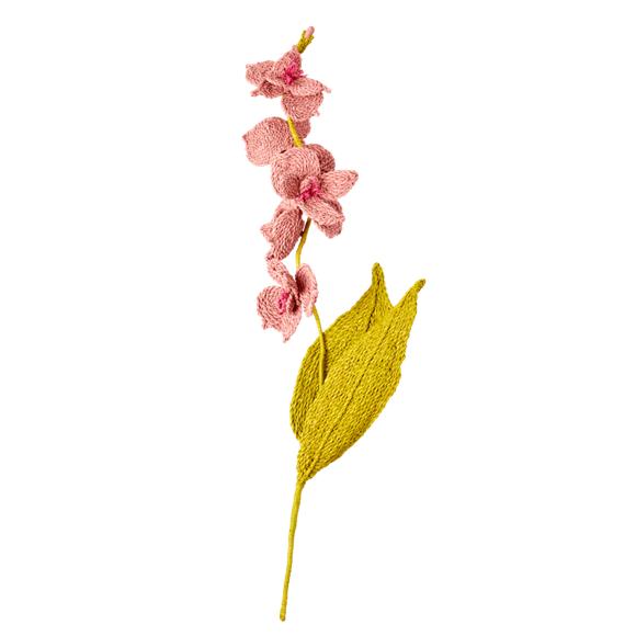 Rice - Raffia Flower -  Soft Pink