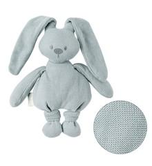 Nattou - Knitted Cuddly Rabbit - Green