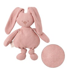 Nattou - Knitted Cuddly Rabbit - Old Rose