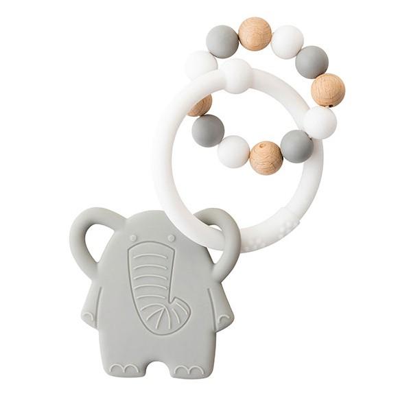 Nattou - Lapidou Teething Toys - Grey/White