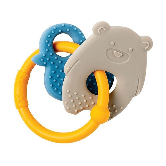 Nattou - Lapidou Teething Toys - Beige/Yellow
