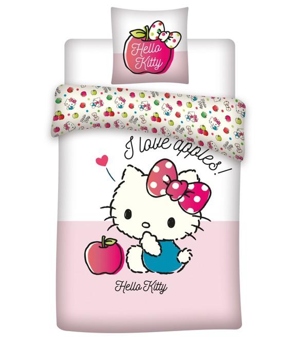 Sengetøj - Junior str. 100 x 140 cm - Hello Kitty