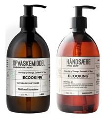 Ecooking - Opvaskemiddel 500 ml + Håndsæbe 500 ml