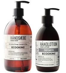Ecooking - Håndlotion Parfumefri 300 ml + Håndsæbe 500 ml