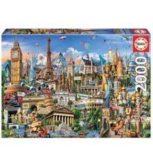 Educa - Puzzle 2000 - Europe Landmarks (017697)