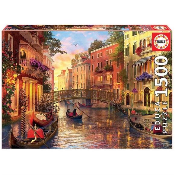 Educa - Puslespil 1500 brikker - Solnedgang i Venedig