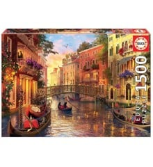 Educa - Puzzle 1500 -  Sunset in Venice (80-17124)