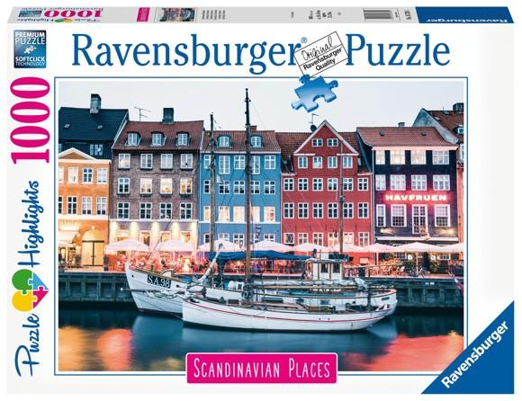 Ravensburger - Puzzle 1000 - Nyhavn, Copenhagen Denmark (10216739)