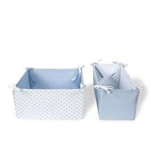 Vinter & Bloom - Storage Boxes Gingham - Placid Blue