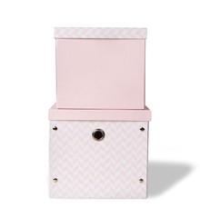 Vinter & Bloom - Storage Boxes Herringbone - Pink