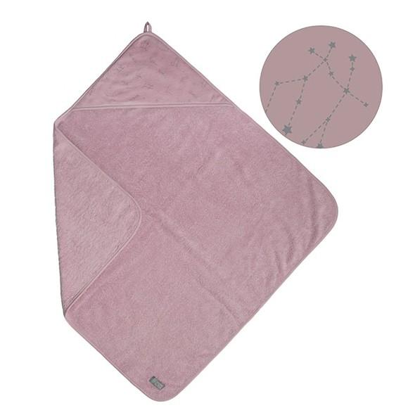 Vinter & Bloom - Northern Lights Hooded Bath Towel - Stella Pink