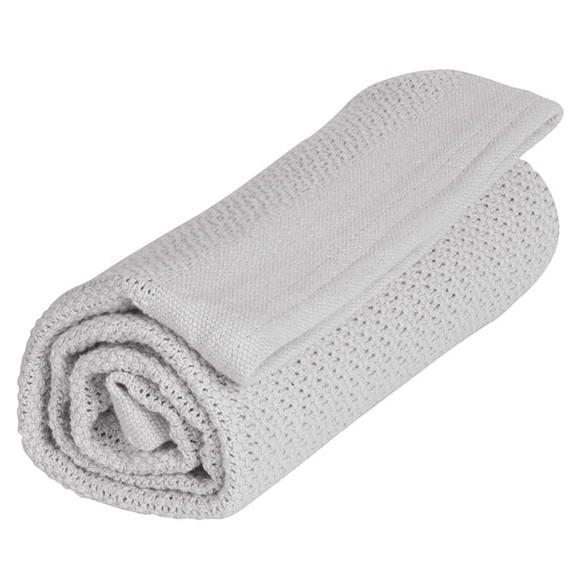 Vinter & Bloom - Filt Soft Grid Blanket ECO - Dove Grey