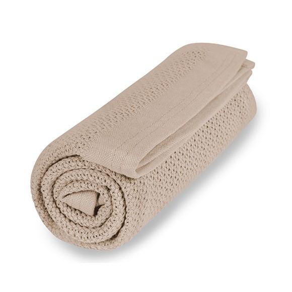 Vinter & Bloom - Filt Soft Grid Blanket ECO - Golden Sand