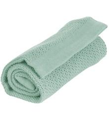 Vinter & Bloom - Filt Soft Grid Blanket ECO - Sage Green