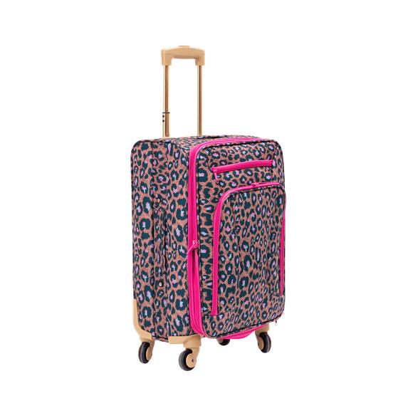 Rice - Soft Shell Trolley Kuffert- Leopard Print