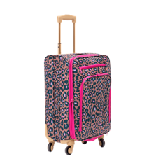 Rice - Soft Shell Trolley Suitcase - Leopard Print