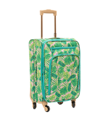 Rice - Soft Shell Trolley Suitcase - Selmas Leaves Print