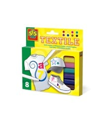 Ses Creative - Textile markers 8 pack (S00271)